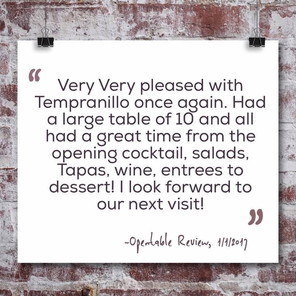 tempranillo reviews